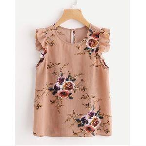 Tan floral top